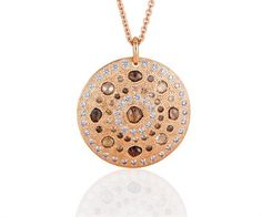 Talisman Large Diamond Medallion in Pink Gold