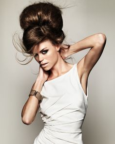 """A gorgeous, voluminous up-do with that sexy """"undone"""" look."""