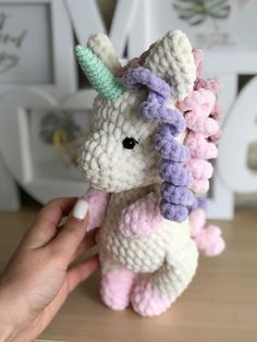 This FREE crochet pattern will guide you to making a magical amigurumi toy unicorn. With Himalaya Dolphin Baby yarn you will get a plush unicron 25 cm high. Crochet Unicorn Pattern, Plush Pattern, Easy Crochet Patterns, Amigurumi Patterns, Amigurumi Doll, Free Pattern, Crochet Toys, Free Crochet, Sewing Techniques