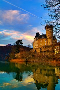 Château de Duingt, lac d'Annecy, Rhône-Alpes, France  CLICK THIS PIN if you want to learn how you can EARN MONEY while surfing on Pinterest #Beautiful #Places #Photography