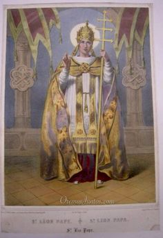 Papa San León, LITOGRAFÍA. S.XIX.