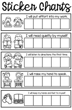 Sticker charts for positive behavior support Behavior Sticker Chart, Positive Behavior Chart, Positive Behavior Management, Behavior Goals, Behavior Incentives, Behaviour Chart, Classroom Management, Student Behavior, Kids Behavior