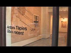 #video of Antoni Tàpies paintings at exhibition in Galeria Toni Tàpies