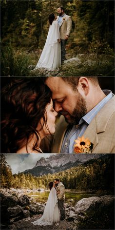 Melissa & Shane travelled to Germany for this intimate lakeside elopement in the Bavarian Alps on the banks of the beautiful Lake Eibsee. Wedding Places, Wedding Venues, Mountain Elopement, Mountain Weddings, Places To Get Married, Alpine Lake, Elopement Inspiration, Rustic Feel, Germany Travel