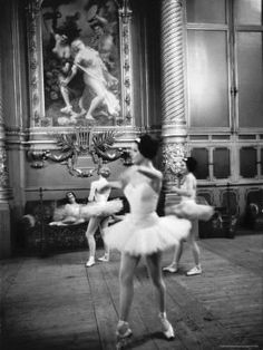 Ballerinas at the Paris Opera in Rehearsal in the House Photographic Print by Alfred Eisenstaedt at Art.com