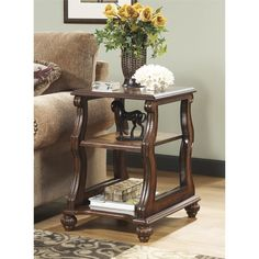 Lowest price online on all Ashley Shelton Chair Side End Table in Dark Brown - T489-7