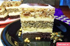 ciasto orzechowo-rumowe - Swiatciast.pl Sweet Recipes, Cake Recipes, Torte Cake, Sweets Cake, Polish Recipes, Food Cakes, No Bake Desserts, Cake Cookies, Creme