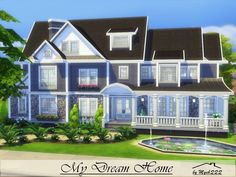 My Dream Home is a charming suburban home built on 40x30 lot in Newcrest. Found in TSR Category 'Sims 4 Residential Lots'