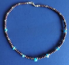 'Native American Style Necklace -Turquoise ' is going up for auction at  3pm Tue, Mar 5 with a starting bid of $8.