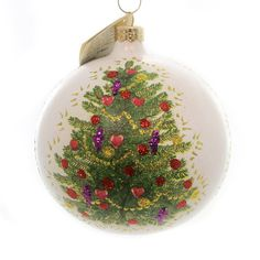 Christina's World Christmas Memories Glass Ornament Height: 4.5 Inches Material: Glass Type: Glass Ornament Brand: Christina's World Item Number: Christina's World GIF546 Catalog ID: 27607 New W/ Tag.