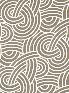"""55"""" wide100% Cotton   A modern knot print from the """"Hip and Happening"""" line in a taupe meets gray with ivory contrast lines by P Kaufman. Pattern is multi directional and is 13"""" vertical by 7"""" horizontal.  Made of 100% cotton, plain weave, medium weight fabric, weighs 10 oz or 300 grams per yard and has a soil and stain resistant finish.  Perfect for drapery, curtains, roman blinds, pillows, bedding accessories and many other home decor projects."""