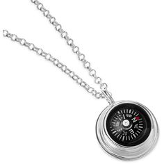 LeeAnn Herreid (Individual Icons) Compass Necklace ($140) ❤ liked on Polyvore featuring jewelry, necklaces, chain necklace, sterling silver jewellery, sterling silver necklace, chains jewelry and sterling silver chain necklace