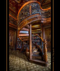 Wooden Spiral Staircase, Budapest, Hungary