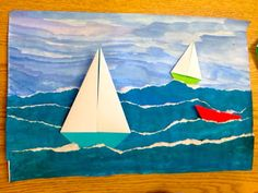 Seascapes art project - Mayflower