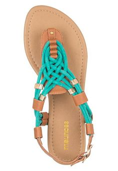 sea green combo jia celtic knot sandal - maurices.com