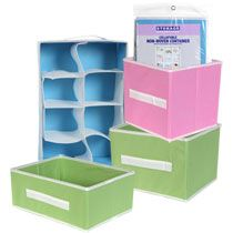 Storage. $1 collapsable boxes