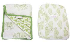 Rikshaw Design Taj Blanket  - Green (SALE $61, 1 left!)