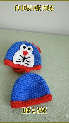 Easy Crochet Stitches, Crochet Edging Patterns, Crochet Chain, Baby Hats Knitting, Crochet Baby Hats, Free Crochet, Knit Crochet, Knitting Videos, Crochet Videos
