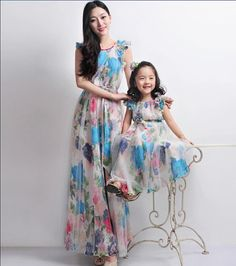 Wedding Flower Girl Tulle Floral Print Aline Dress by ChineseHut, $128.00