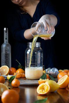 How to Make a Milk-Clarified Satsuma Screwdriver - Moody Mixologist Craft Cocktails, Orange Juice, V60 Coffee, Cocktail Recipes, Vodka, Milk, Drinks, Drinking, Beverages