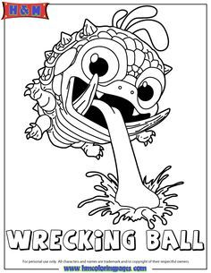 Skylanders Giants Magic Wrecking Ball Coloring Page