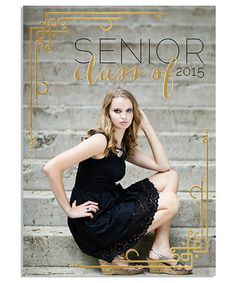 Elegant Senior 5x7 Deco Foil Press Card