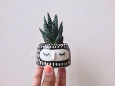 CUTE PLANT POT // Wheel thrown ceramic pot, Mini plant pot, Handmade pottery, cute cup, catch all, Small dish, Mini planter