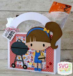 SVG Cutting Files: BBQ Girl