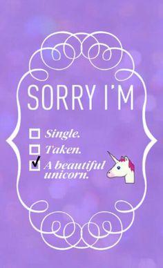 Désolée je suid une magnifique licorne