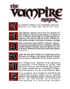 Charmed Series Book of Shadows: Buffy the Vampire Slayer » Metaphysic Study