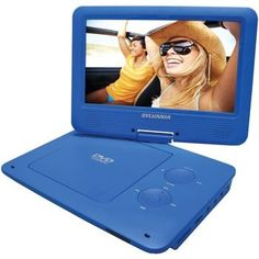 SYLVANIA SDVD9020B-BLUE 9 Portable DVD Players with 5-Hour Battery (Blue)