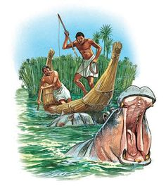 Hunting hippos in the Nile