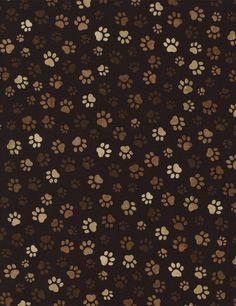 Brown Dog Paw Fabric Timeless Treasures By AnnadaisysFabrics