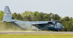 Super Hercules kicking up pollen off the runway as it lands during the spring time. C 130, Hercules, Spring Time, Fighter Jets, Aircraft, Military, History, Runway, David