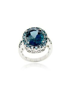 Love this London Blue Topaz & Sterling Silver Cocktail Ring on #zulily! #zulilyfinds