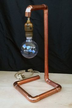Why hide copper pipe under floors and behind walls? COOL lamp on Etsy!