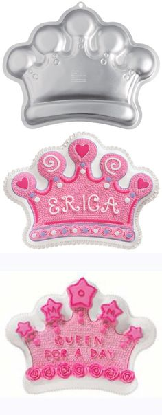 Wilton Crown Pan, Treat your little princess (or prince) like royalty at their next celebration! This majestic crown cake is a fun way to honor both kids and adults alike--perfect for birthdays, school parties, Mother'..., #Kitchen, #Specialty & Novelty Cake Pans, $7.84