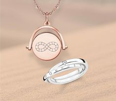 A piece of jewellery with the infinity symbol is the perfect love token for the one you love.