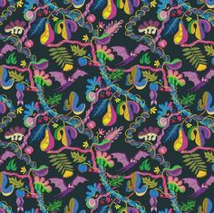 Hey guys hey, I made a little fruit bat pattern, to commemorate Halloween. oooOOOOoooooo Spoooooky. Not really, but this will be part of a wallpaper project I am real excited about!