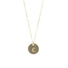 Initial Hand Stamped Necklace by Calinana. Perfect for any gift, whether it be for a bridal party, best friend, loved one, or yourself, this Initial Hand Stamped necklace is the perfect personalized dainty jewelry piece. A wonderful everyday necklace.