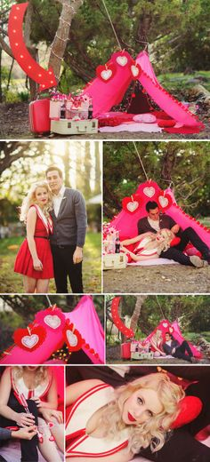 Valentine's Day Camp Out!! Shoot by Michelle Roller Photography - via loveandlavender