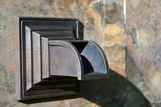 Bronze and stainless steel fountain spouts and scuppers for use in residential fountains and swimming pools. Copper Gutters, Small Fountains, Islamic Architecture, Perfect Photo, Swimming Pools, Bronze, Things To Sell, Patio, Garden