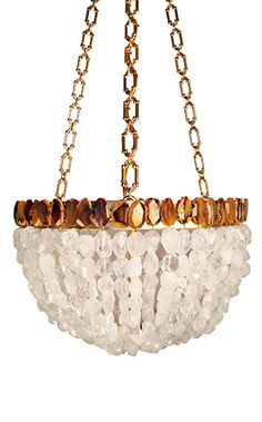 FEHER CHANDELIER CLEAR QUARTZ CRYSTAL-Marjorie Skouras Design