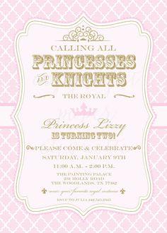 free printable princess birthday invitation templates kids