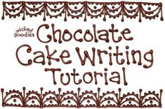 Tutorial with instructions on how to make parchment paper piping cones for cake writing and decorating by Wicked Goodies. Cupcake Decorating Tips, Cake Decorating Techniques, Cookie Decorating, Modeling Chocolate, Chocolate Cake, Melted Chocolate, Piping Templates, Cake Writing, Writing Tips