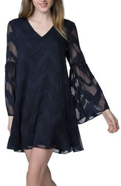 Donna Morgan Jacquard Chiffon Swing Dress available at #Nordstrom