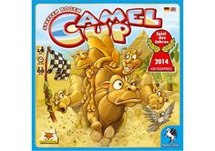 In Camel Up, up to eight players bet on five racing camels competing for first place in the grand cup. Buy online