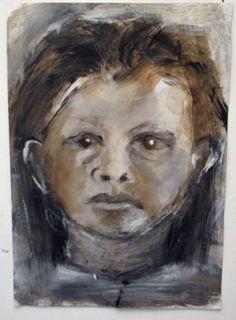 "Saatchi Art Artist Smadar Lomnitz; Painting, ""Self portrait as a big girl"" #art"