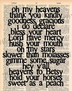 Southern Sayings.... love!