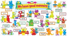 Good Manners for kids Preschool perfect for first day of co-op class with the discovery kids.